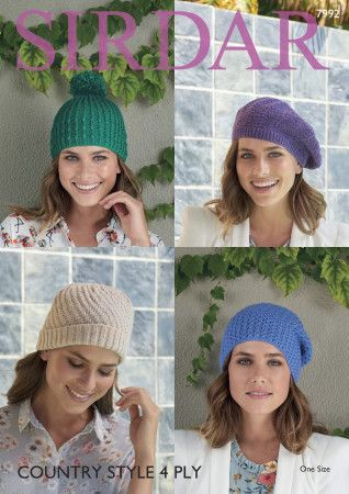 Hats in Sirdar Country Style 4 Ply (7992)