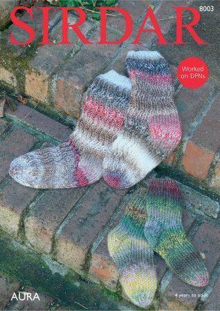 Socks in Sirdar Aura (8003)