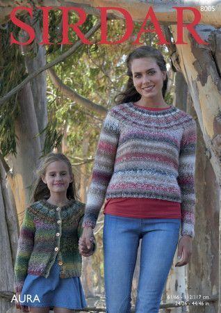 Sweater and Cardigan in Sirdar Aura (8005)