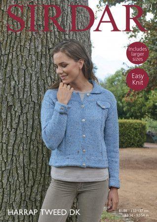 Jacket in Sirdar Harrap Tweed DK (8011)
