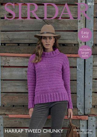 Woman's Tunic Sweater in Sirdar Harrap Tweed Chunky (8012)