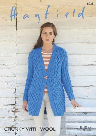 Women's Jacket in Hayfield Chunky with Wool (8021)