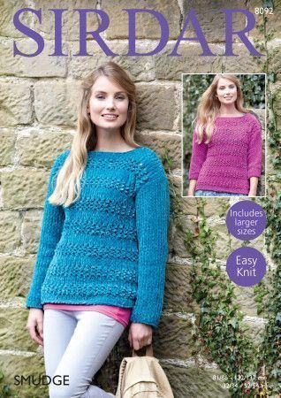 Sweaters in Sirdar Smudge (8092)