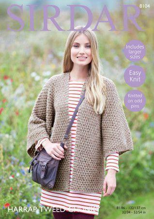 Kimono Jacket in Sirdar Harrap Tweed Chunky (8104)