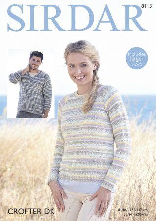 Sweaters in Sirdar Crofter DK (8113)
