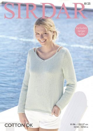 Sweater in Sirdar Cotton DK (8125)