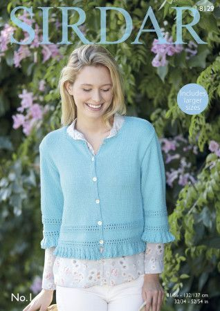 Cardigan in Sirdar No. 1 (8129)