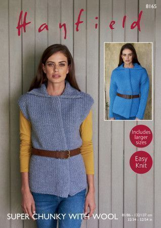 Jacket and Waistcoat in Hayfield Super Chunky with Wool (8165)