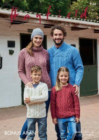 Sweaters in Hayfield Bonus Aran (8166)
