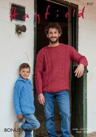 Sweaters in Hayfield Bonus Aran (8167)