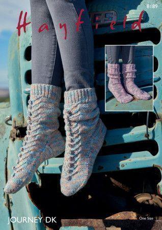 Socks in Hayfield Journey DK (8189)