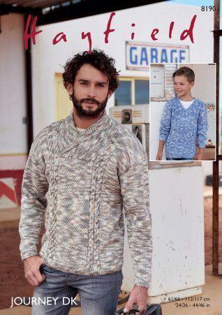 Sweaters in Hayfield Journey DK (8190)