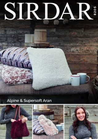 Accessories in Sirdar Alpine and Supersoft Aran (8205)