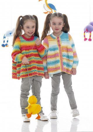 Sweater and Cardigan in Stylecraft Wondersoft Merry Go Round DK (8969)