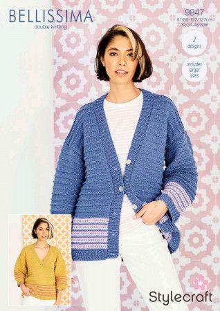 Cardigan and Sweater in Stylecraft Bellissima DK (9847)
