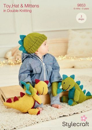 Toy, Hat and Mittens in Stylecraft Bellissima DK (9853)