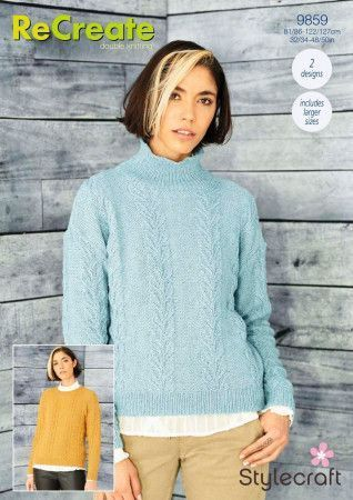 Sweaters in Stylecraft ReCreate DK (9859)