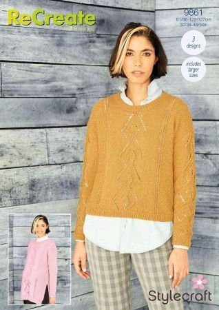 Tunic, Sweater and Snood in Stylecraft ReCreate DK (9861)