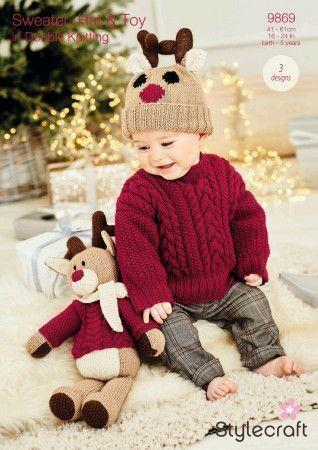 Toy, Hat and Sweater in Stylecraft DK (9869)
