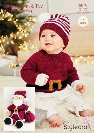 Toy, Hat and Sweater in Stylecraft DK (9870)
