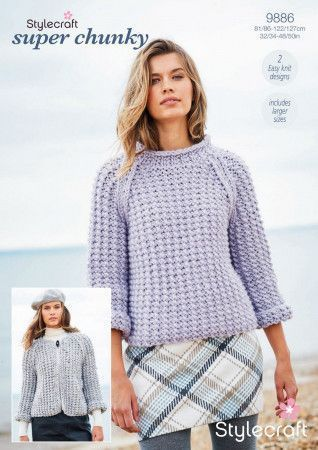 Sweater and Cardigan in Stylecraft Special XL and Special XL Tweed (9886)