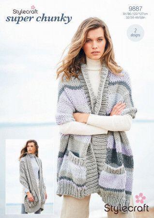 Shawls in Stylecraft Special XL and Special XL Tweed (9887)