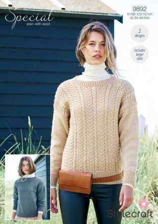Sweaters in Stylecraft Special Aran with Wool (9892)