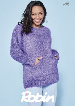 Oversized Sweater and Cowl in Robin Mardi Gras Chunky (3025)
