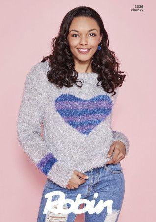 Boxy Sweaters in Robin Mardi Gras Chunky (3026)