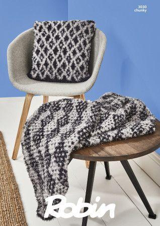 Throw and Cushion Cover in Robin Mardi Gras Chunky (3030)