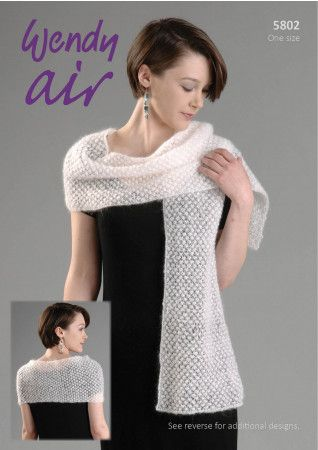 Wrap, Stole and Shawl in Wendy Air (5802)