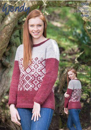 Sweater in Wendy Cairn Aran (5912)