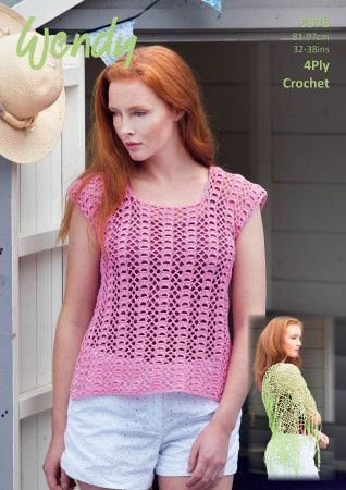 Top and Shawl in Wendy Supreme Luxury Cotton 4 Ply (5976)