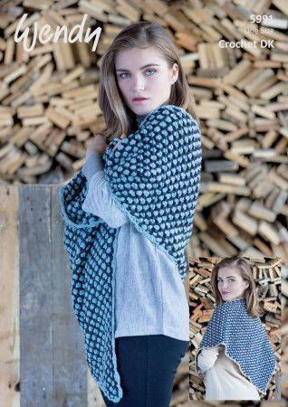 Triangular Shawls in Wendy Fleur DK (5991)