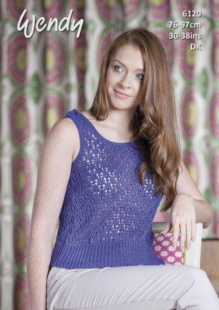 Lace Vest in Wendy Supreme Cotton DK (6120)
