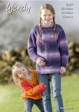 Sweaters in Wendy Stella Chunky (6127)