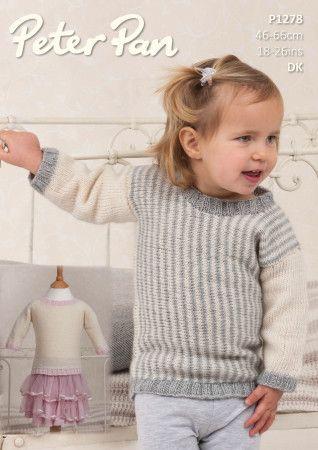 Sweaters in Peter Pan Petite Fleur DK (P1278)