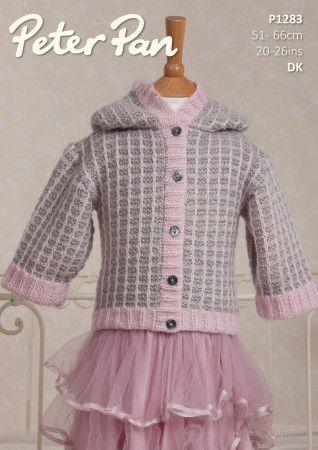Jacket in Peter Pan Petite Fleur DK (P1283)