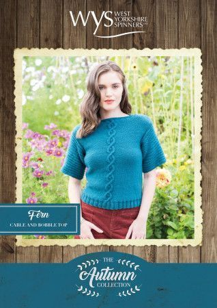 Fern Cable and Bobble Top in West Yorkshire Spinners Bluefaced Leicester Aran Pattern