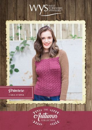 Primrose Sweater in West Yorkshire Spinners Bluefaced Leicester Aran Pattern