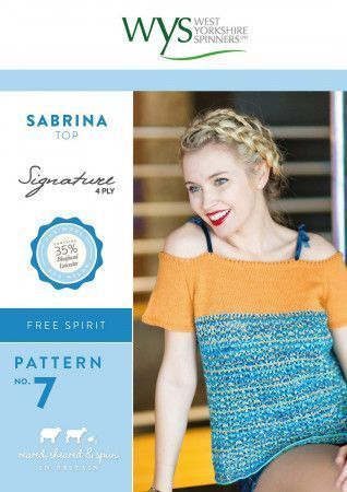 Sabrina Top in West Yorkshire Spinners Signature 4 Ply Pattern