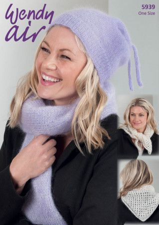 Hat, Scarf and Cravat in Wendy Air (5939)