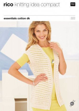 Waistcoats in Rico Essentials Cotton DK (222)