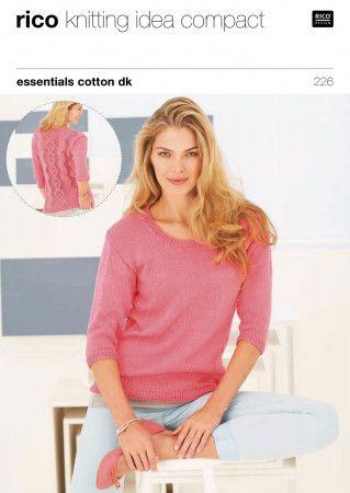 Sweaters in Rico Essentials Cotton DK (226)
