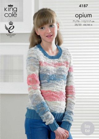 Sweater and Top in King Cole Opium Palette and Bamboo Cotton DK  (4187)