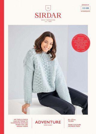 Sweater in Sirdar Adventure Super Chunky  (10188)
