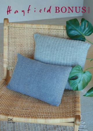 Cushion Covers in Hayfield Bonus DK (10254)