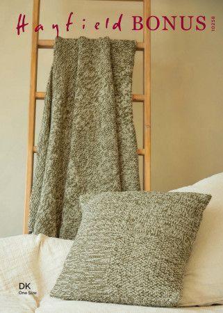 Blanket and Cushion in Hayfield Bonus DK (10258)