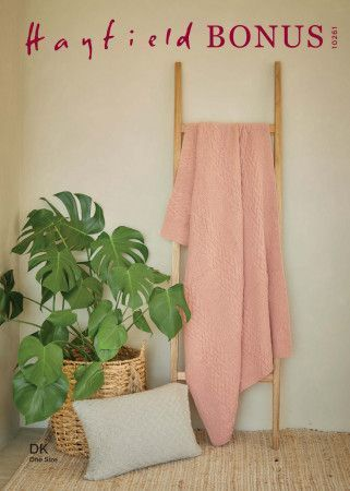 Blanket and Cushion in Hayfield Bonus DK (10261)
