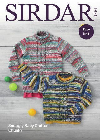 e6b4a7b3ef92 Sweaters in Sirdar Snuggly Baby Crofter Chunky (2494)